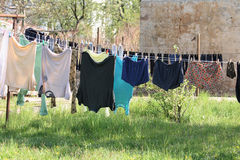 Clothes in the sun Royalty Free Stock Image