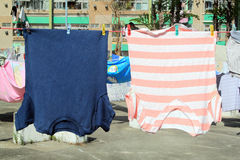 Clothes in the Sun Stock Image