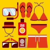 Clothes swiming design Stock Photos