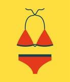 Clothes swiming design Royalty Free Stock Photos