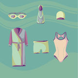 Clothes for swimmers 4 Royalty Free Stock Photography