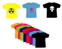 Одежда. T-shirts clothes summer fabric bright Stock Image