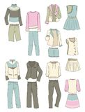 Clothes for teen girls Royalty Free Stock Photography