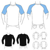 Clothes template 1 (fashion man) Stock Image