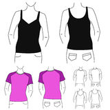 Clothes template 1 (fashion woman) Stock Photo