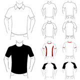 Clothes template (fashion man) Royalty Free Stock Photography