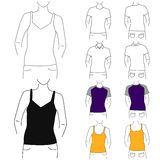 Clothes template (fashion woman) Stock Images