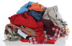 Clothes to washing Stock Images