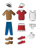 Clothes and underwear illustration Stock Photography