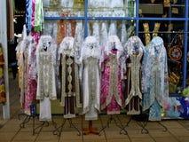 Clothes of Uzbekistan. Clothes to sell in Uzbekistan Royalty Free Stock Image