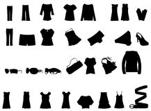 Clothes vector Royalty Free Stock Photography