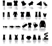 Clothes vector. Illustration of clothes vector with shadows, fashion Royalty Free Stock Photo