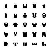 Clothes Vector Icons 5 Royalty Free Stock Images