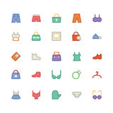 Clothes Vector Icons 13 Royalty Free Stock Images