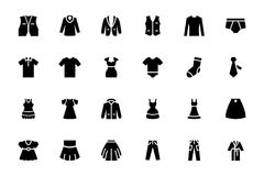 Clothes Vector Icons 2 Stock Photo