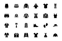 Clothes Vector Icons 4 Royalty Free Stock Photo