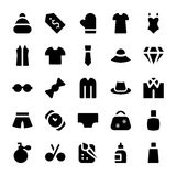 Clothes Vector Icons 3 Stock Images