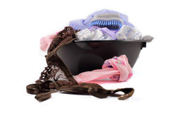 Clothes washed in the basin Stock Photography