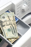 Clothes washer. The concept of the subject use of expensive detergent in washing machines Royalty Free Stock Photo
