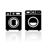 Clothes washer icon Stock Images