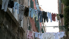 Clothes on washing line Stock Photography