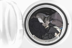 Clothes in the washing machine Royalty Free Stock Images