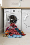 Clothes And Washing Machine Stock Photo