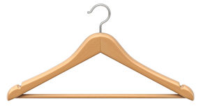 Clothes wood coat hanger Royalty Free Stock Images