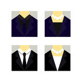 Clothes for working woman and man. Clothes icon for working woman and man Royalty Free Stock Photo