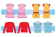 Clothes for young  women and girls Royalty Free Stock Image