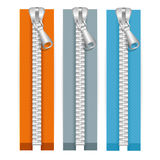 Clothes Zip Set. Vector Royalty Free Stock Image