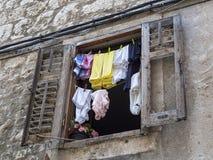clotheshorse arkivbild