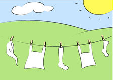 Clothesline. Royalty Free Stock Photo