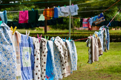 clothesline Obrazy Royalty Free