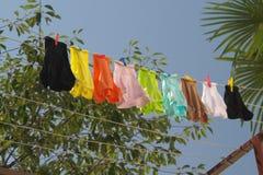 Clothesline Fotografia Stock