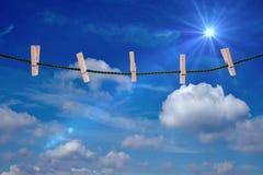 clothesline royalty-vrije stock afbeelding
