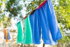 clothesline stock afbeelding