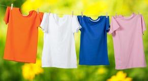 clothesline royalty-vrije stock fotografie