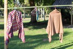 clothesline Fotografia de Stock