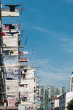Clothesline on building of shanghai china Stock Photo