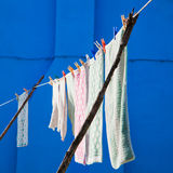 Clothesline in Burano Royalty Free Stock Image