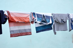 Clothesline clothes Royalty Free Stock Images