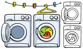 Washer And Dryer Clipart closed washing machine stock illustrations – 51 closed washing