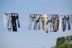 clothesline pralnia Zdjęcia Stock