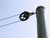 Clothesline pulley Royalty Free Stock Photos