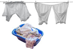 Clothesline, Underwear Stock Photos