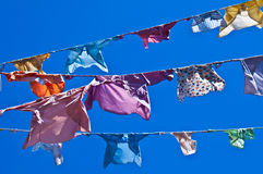 Clotheslines Royalty Free Stock Photos