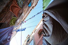 Clotheslines in Venice Royalty Free Stock Photos