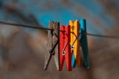 Clothespegs Imagens de Stock Royalty Free