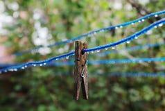 clothespin деревянный Стоковые Фото
